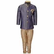 Kids Sherwani Set for Boys in Blue Size-1T,2T or 3T