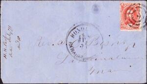 Hawaii - 1871 - 2 Cents Rose Vermilion 31 Tied to Honolulu Cover to Lahaina Maui
