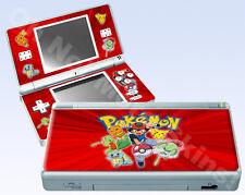 Nintendo DS Lite Skin Vinyl Decal Sticker - Pokemon Ash, Red
