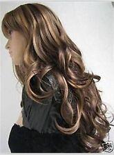 Belle et longue brun doré mixtes perruquewig+hairnet