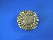Vintage Brass Volunteer Fire Department Belt Buckle P 260