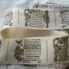 Cotton Fabric Ribbon - Sewing Label - Poem Girl