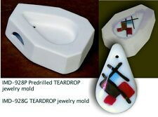 IMD-928P PREDRILLED JEWELRY BLANK TEARDROP GLASS FUSING pod mold
