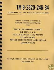 TM9 2320 246 34 ~ M274A2, A3, A4, A5 ~ Mule Maintenance Manual ~ Reprnt