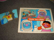 PLAYSKOOL SESAME STREET GOIN FOR A RIDE PUZZLE WOODEN W