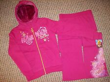 Hannah Montana Hoodie Pants Outfit 2pc Set Girls Sz  16 XL Pink NWT