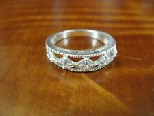 Sterling Silver 925 Ring Size 6 Avon with Cubic Zirconia Stones Band