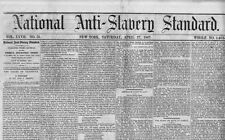 National Anti Slavery Standard 1867 Journal Wendell Phillips Negroes Suffrage