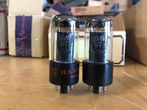 2 1959 GE General Electric Black Plate 6V6GT Vacuum tubes Tested Guaranteed #2