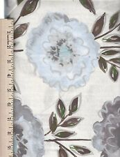 THE PAINTED GARDEN GREY  FREE SPIRIT  100% Cotton Fabric priced by the 1/2 yard
