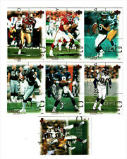 2000 Upper Deck Pros & Prospects football cards #72,#41,#62, #58, #21,#47,#46NFL