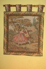 Alter Gobelin Wandteppich Motiv: Tanzen
