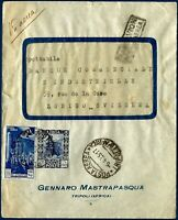 1935 - Lettera da Tripoli - Affrancatura mista Libia/Tripolitania