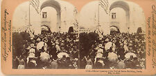 1900 Opening US Building, Paris Exposition, May 12, 1900 Keystone Stereoview