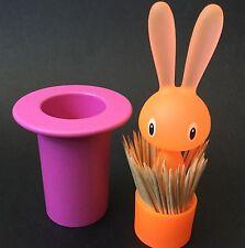 Alessi Magic Bunny Toothpick Holder Pink Orange Italian Design Fun Tableware