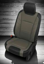 Ford F150 Super Crew XLT Katzkin Limited Style Leather Seat Covers Black & Gray