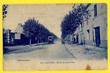 CPA Coll. Jaunin RARE FRANCE 44 - NANTES (Loire Atlantique) ROUTE du LION d'OR