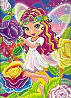 Lisa Frank Rosa The Rose Fairy 2006 Folder 2 Pockets School Supplies Portfolio