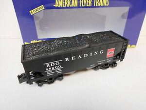 AMERICAN FLYER 6-44109 READING 2 BAY HOPPER S GAUGE AF 2 rail train  NEW IN OB