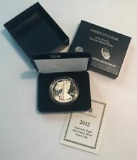 2012 American Eagle One Dollar $1 Silver Proof Bullion Coin - No Reserve