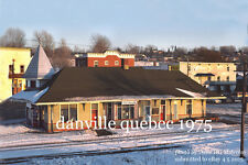 """Canadian National Rwy  Danville Quebec 1975 4x6"""" photo"""