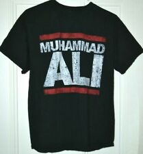 Muhammed Ali Retro Distressed Black Cotton Tee T-shirt - Men's L