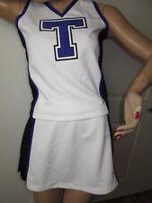 "Cheerleader Uniform Outfit Costume Adult Large Size 36"" Top Elastic Waist Skirt"