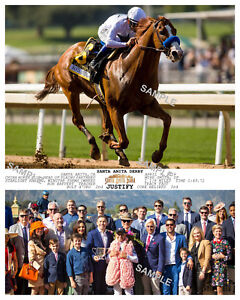 JUSTIFY SANTA ANITA DERBY 2018 PHOTO 10 X 8