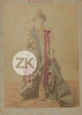 JEANNE BLOCH Colossale Chanteuse LA CIGALE Music-Hall Fursy RADIOTINT Photo 1896
