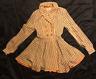 1930's 1940's Striped Wool Coat Jacket