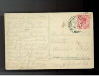 1914 Gibraltar postcard cover to USA