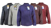 Men's Plain Hemp Cotton Full Grandad Collarless Button Nepalese Boho Shirt Tops