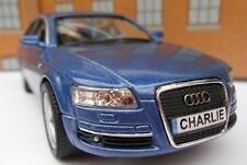 PERSONALISED PLATES AUDI A6 Blue Toy Car MODEL boy dad BIRTHDAY EASTER gift NEW