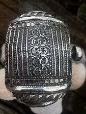 Antique Islamic Art, Nizwa Silver Anklet , Bracelets Bangle Oman. 1890 /1910