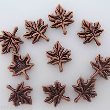 Antique Copper Maple Leaf Charms 12 Pieces Alloy Metal 17mm #0118