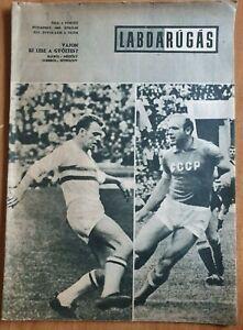 magazine LABDARÚGÁS football Hungary vs USSR game announcement UEFA EURO 1968