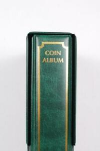 GREEN COIN ALBUM STORAGE A4 RING BINDER TOKENS CROWN PENNY SIXPENCE FLORIN