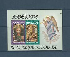 Togo bloc   noel  tableaux     de 1978   num:  124  **