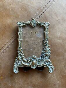 """Gold Colour Brass Design Picture Photo Frame freestanding 4"""" X 2.5"""""""