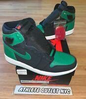 New Nike Air Jordan Retro 1 High OG Men's Size 8.5 Pine Green Black 55088-030