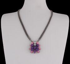 Halskette Kette Halsschmuck Panzerkette Strass kristall rosa chrom sweet deluxe