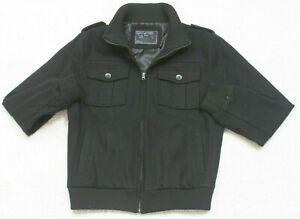 Heritage 1981 Black Lined Jacket Coat Men's Zipper Front Size Medium Man's JKT3