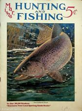 Vintage Hunting & Fishing Magazine March 1928 Great Cover Sporting Jem157