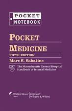 Pocket Notebook: Pocket Medicine : The Massachusetts General Hospital Handbook o