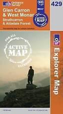 Glen Carron and West Monar  - OS Explorer ACTIVE Map 429 (NEW 2007 folded sheet