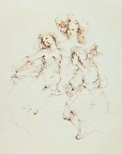 LEONOR FINI - Regards - 1989 Hand Signed and Numbered Etching - Plate 05