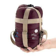 ECOOPRO Waterproof Compact Warm Sleeping Bag For Camping, Wine Red SWSLB01BB