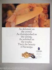 Concord Saratoga Watch PRINT AD - 1989 ~~ wristwatch, watches