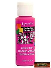 M01440 Morezmore DecoArt Fun Fuchsia Pink Crafters Acrylic All Purpose Paint Izb