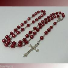 Jesus Kreuz Halskette Madonna Rosenkranz Perlenlette Kreuzkette Ypsilonkette